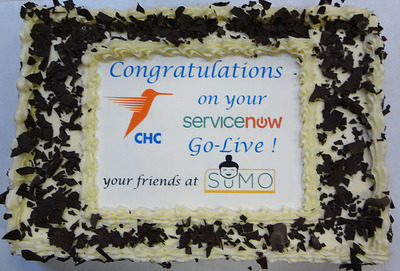 CHC and Hire Sumo Cake